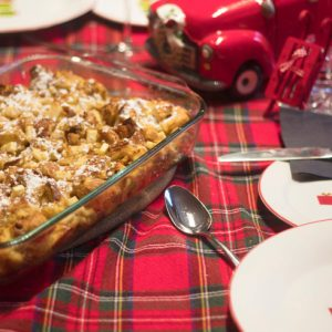 French toast Casserole and snowman table-2
