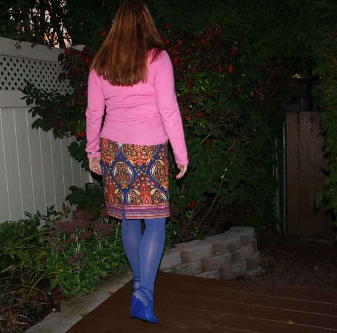 Cashmere and paisley and a mesh bootie
