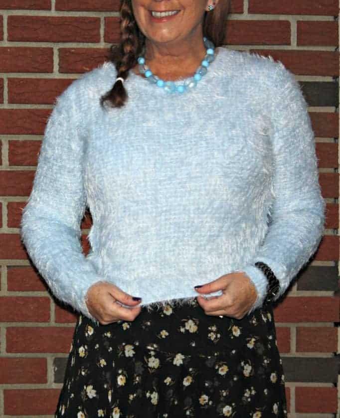 warm fuzzy sweater