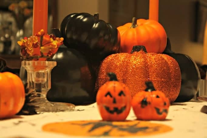 pumpkins on the table