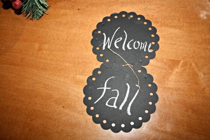 chalk art welcome fall