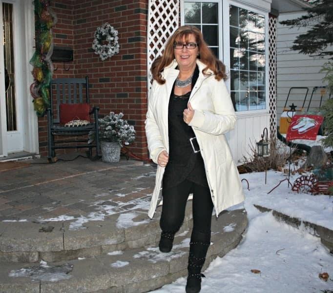 white leather coat danier