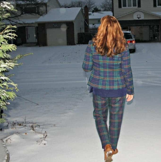 Merona Plaid suit