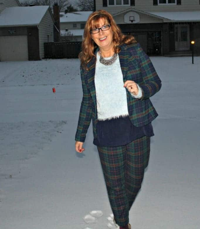 merona suit Plaid