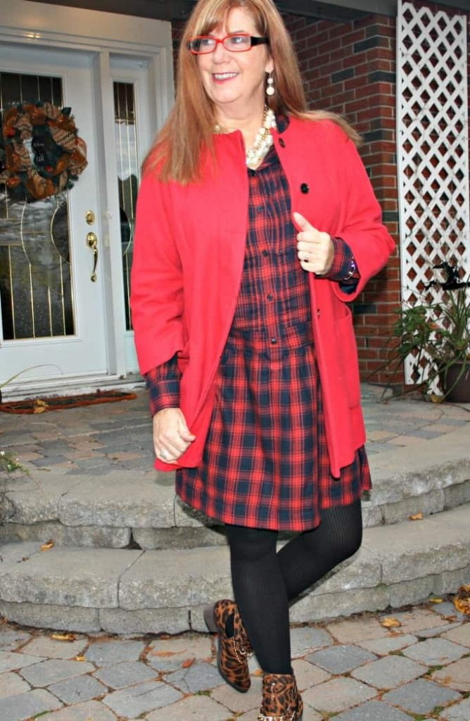 red ncoat Old Navy