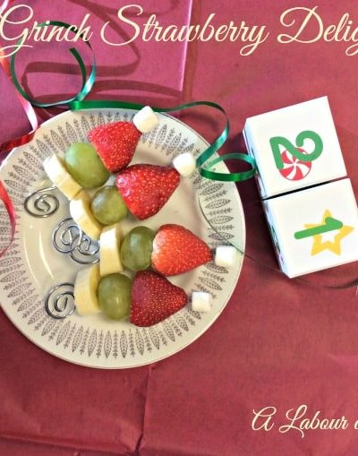 Grinch Strawberry Delights and a Christmas Song