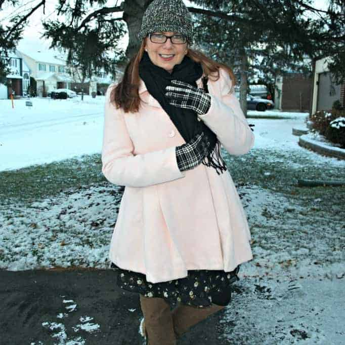 Pink coat from Target
