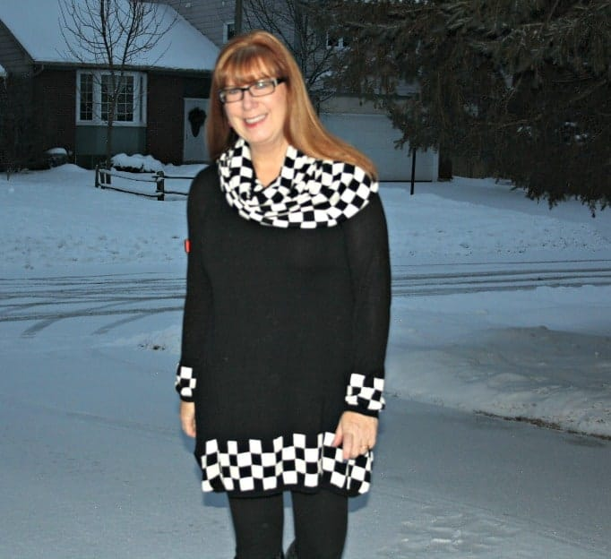 black and white tunic from fecbek