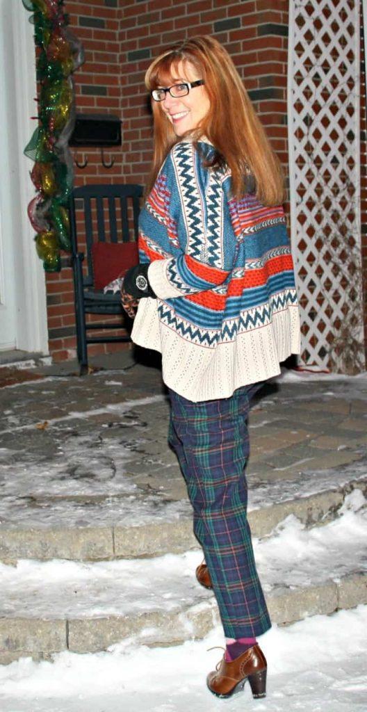 lookbook sweater and target plaid pants