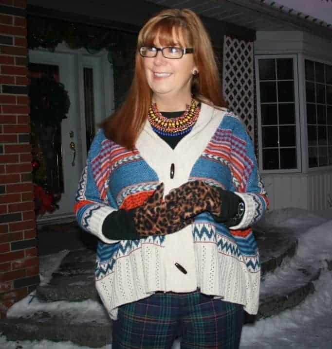 old navy leopard gloves