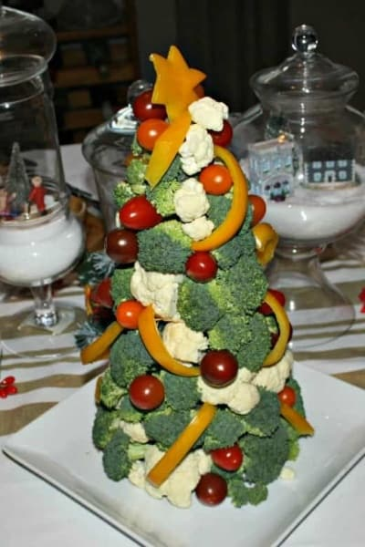 Veggie Tree for Christmas