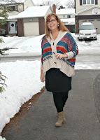 vintage sweater lookbook, old navy dress