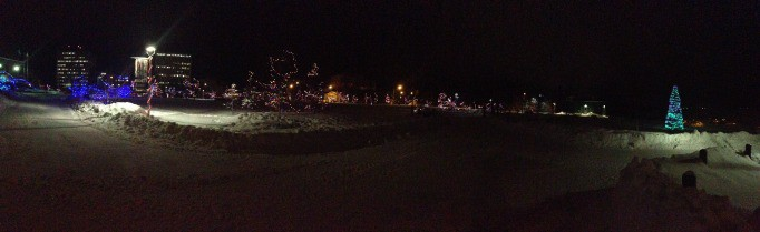 lights at Cityhall in Yellowknife