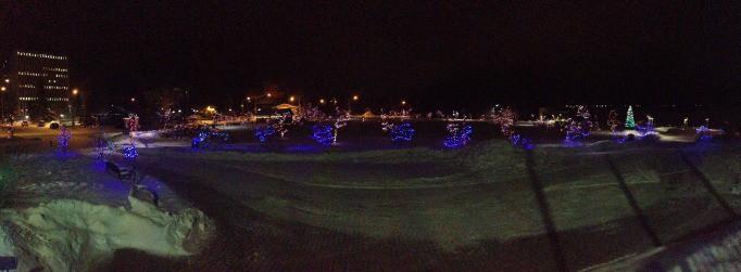 Lights at City Hall Yellowknife