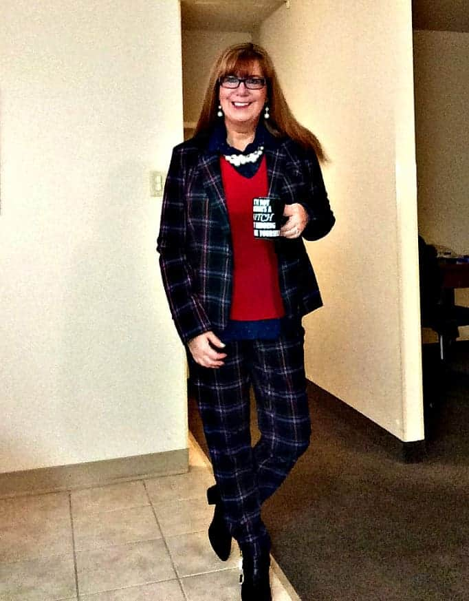 Target plaid suit and forever 21 booties