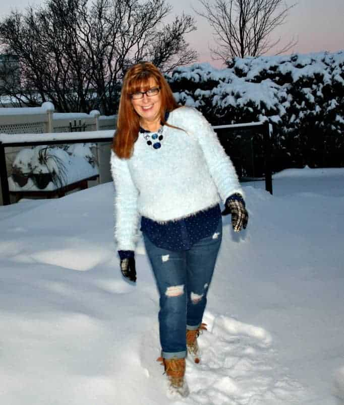 forever 21 fuzzy sweater baby blue