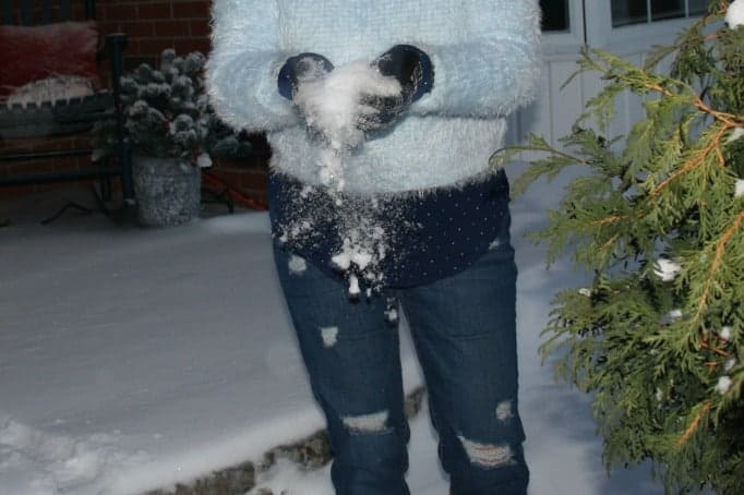 old navy b/f jeans and snow