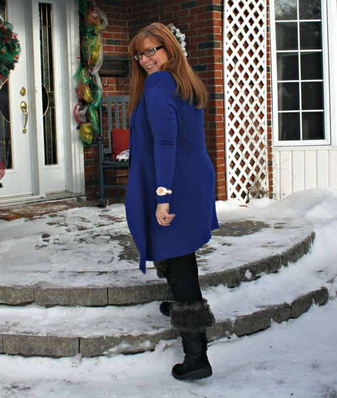 Royal Blue Cardigan from Giant Tiger