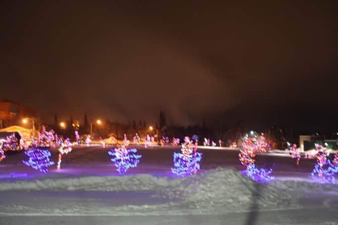 Yellowknife cityhall lights