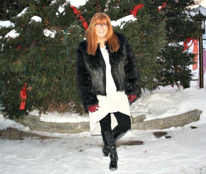 Target faux fur jacket