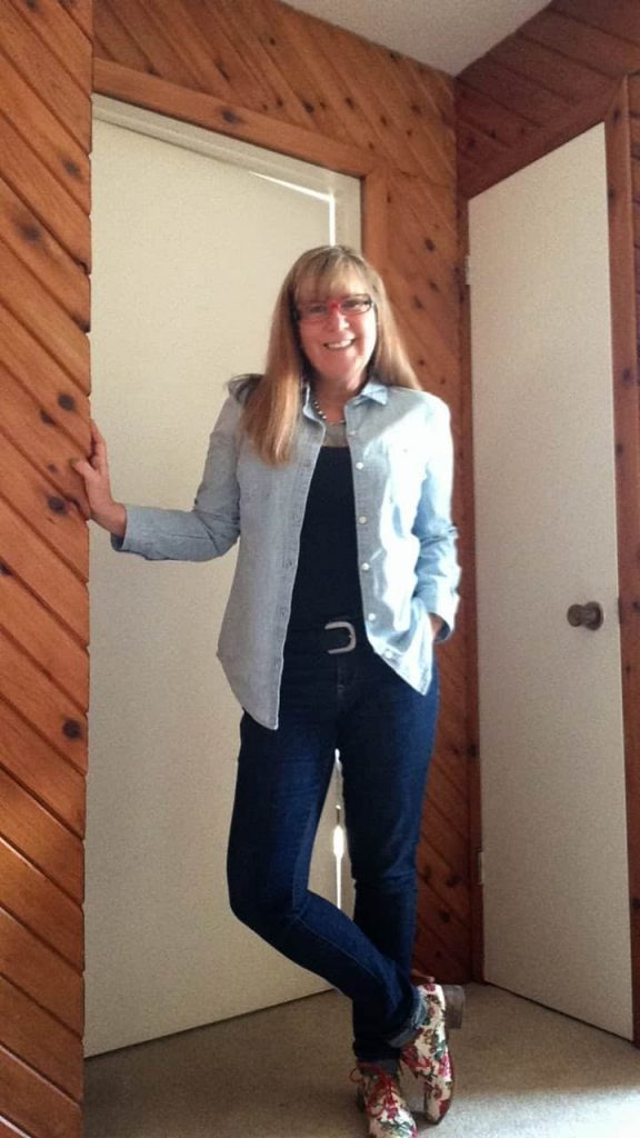 skinny jeans and a capri shirt floral oxfords shoe dazzle