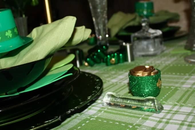 St Patrick's Day Table decorations