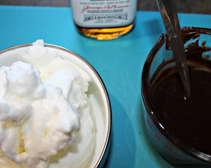 Chocolate Bourbon Mousse, adding egg whites