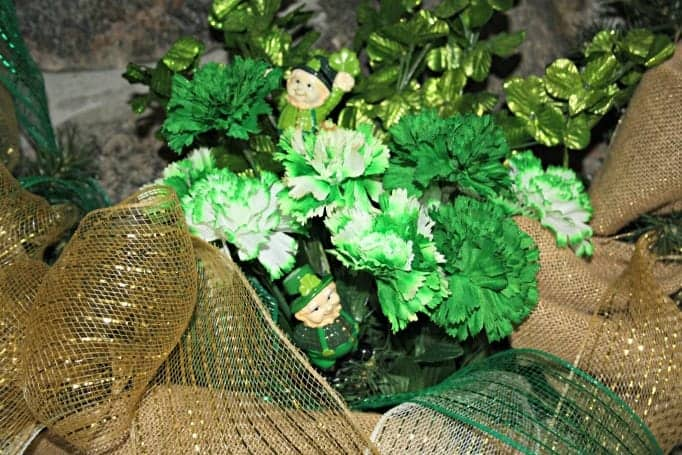 Burlap and decomesh wreath