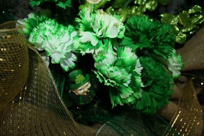 Burlap and decomesh wreath St Patricks Day