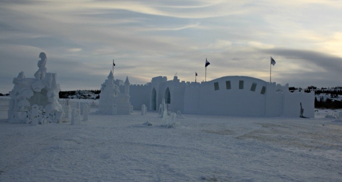 Ice Castle in Yellowknife