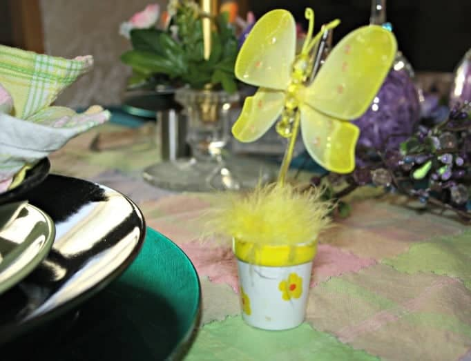 Easter Table Setting, Butterfly name tag holders