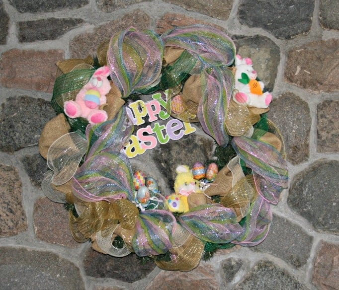 Easter Decomesh wreath