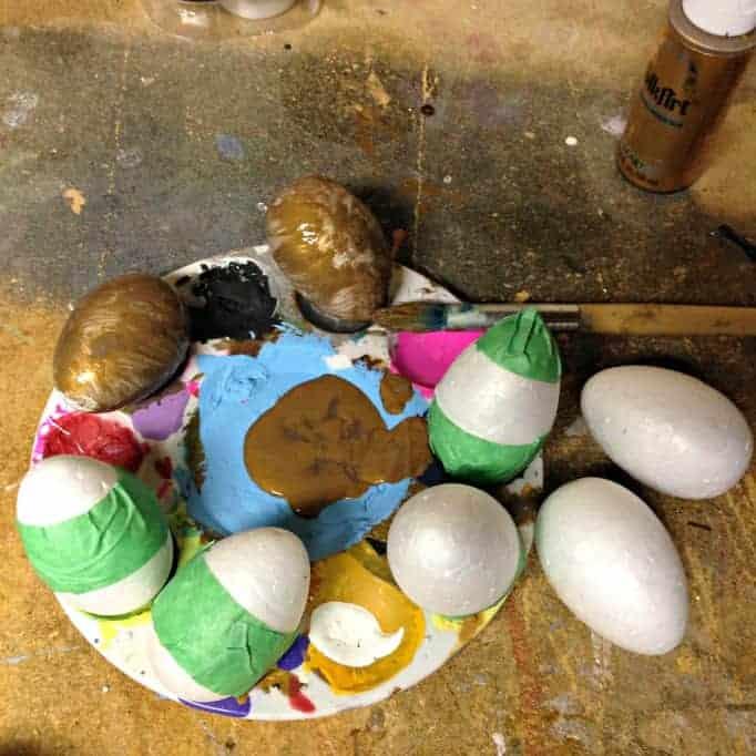 Kate Spade Inspired Gold Eggs