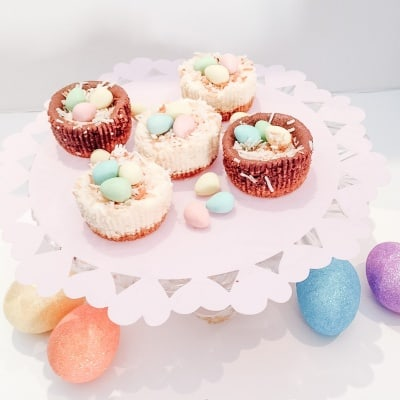 mini easter cheesecake