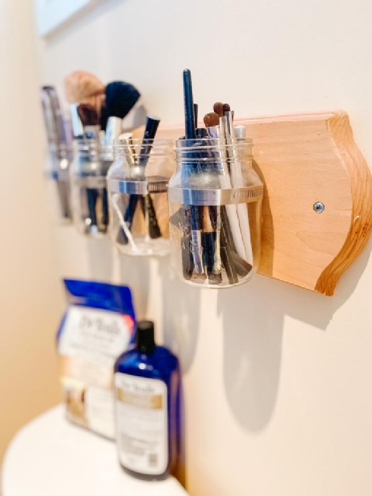 mason jar storage for watercloset
