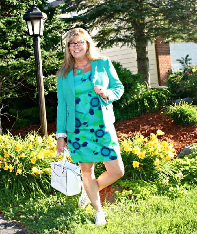 Classic Blazer and joe freshShift Dress, converse and a kate spade beau bag