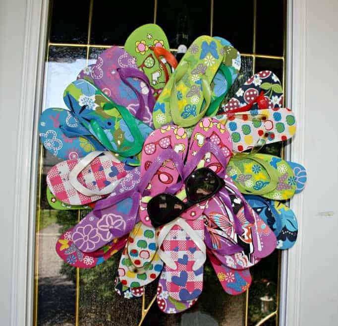Front door flip flop wreath