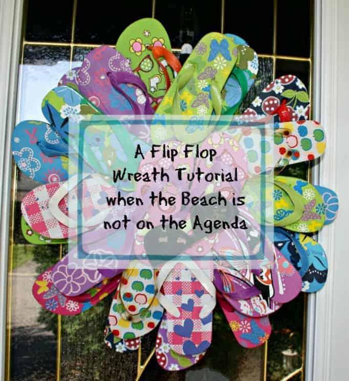 A Flip Flop Wreath Tutorial