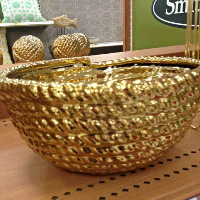 Target gold bowl