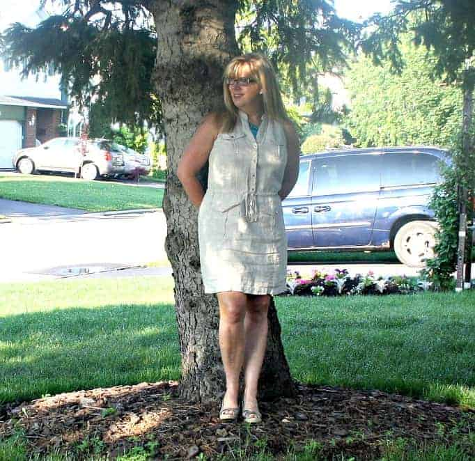 Michael Kors Linen Dress, Giant Tiger wedges