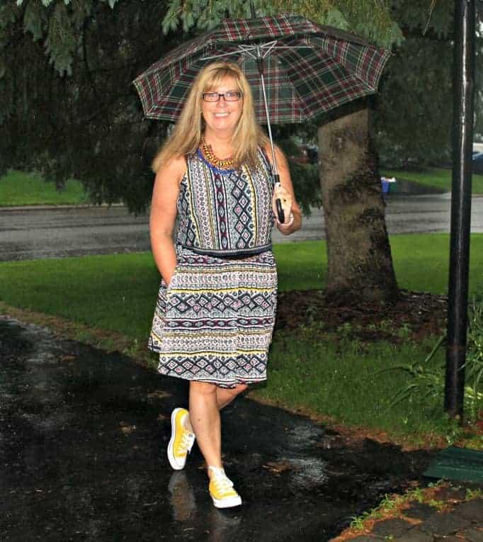 Target Challis tribal print skirt and crop top, yellow converse