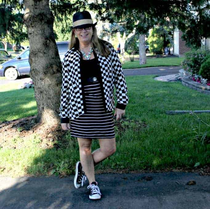 Giant Tiger Dress and Checked blouse from F 21,