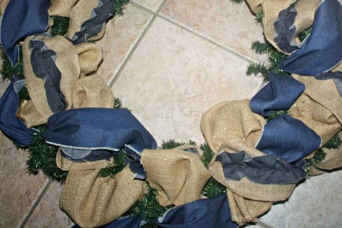 denim and burlap ribbon