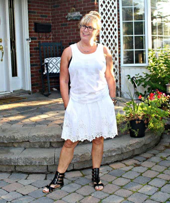 bluesfest tank and joe fresh lace skirt