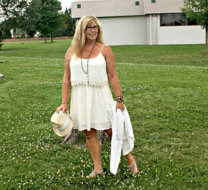 forever 21 babydoll dress and crochet cardi