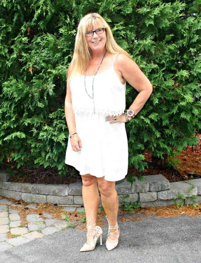 Shein Apricot lace up shoes with my festival F21 dress