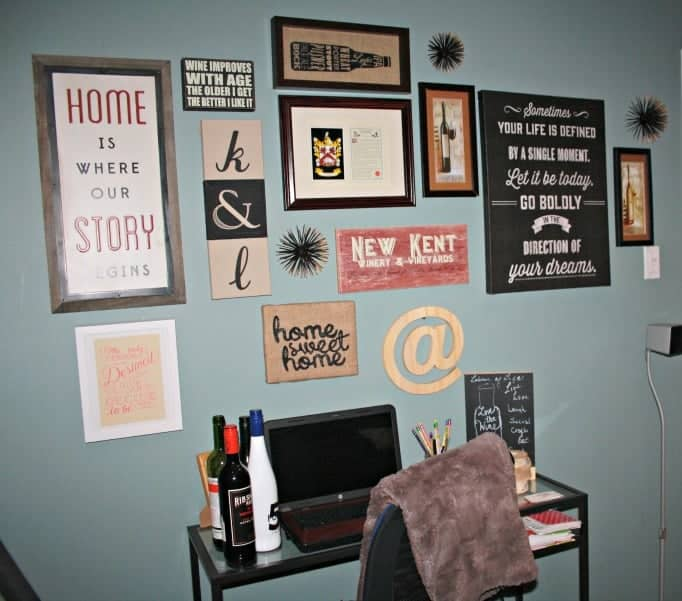 wall gallery with Minted print