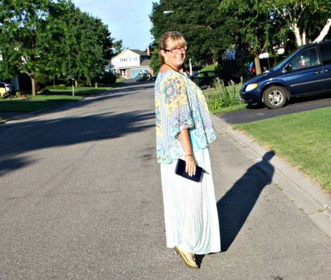 chiffon maxi and floral kimono from Target
