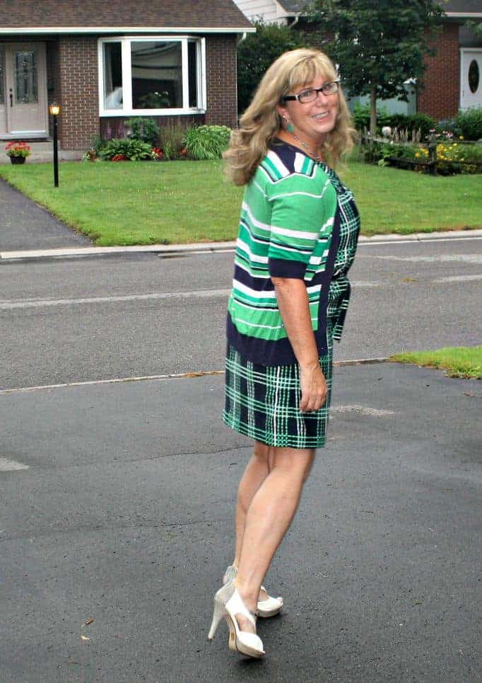 Navy and green, stripes and plaid