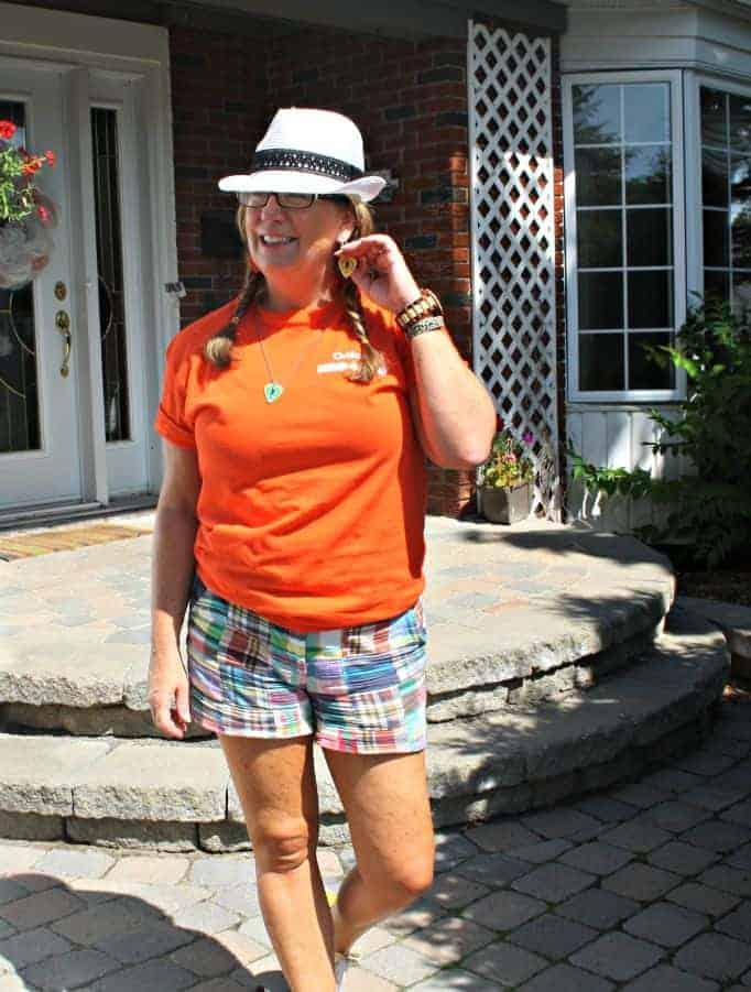 Madrais shorts and NDP shirt